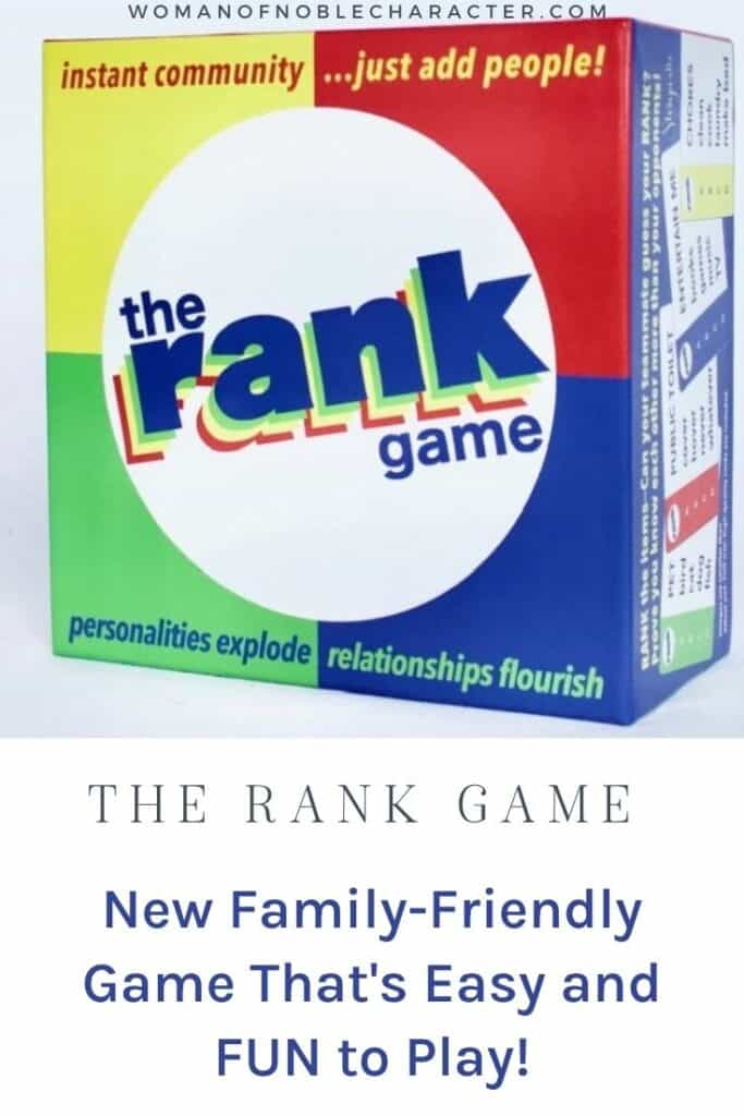 The Rank game family friendly board game