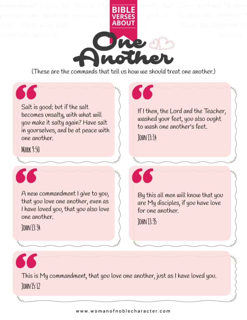 Bible verses about One Another
