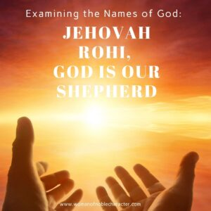 man on mountain with arms outstretched; jehovah rohi
