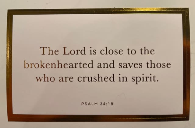 Scripture Stickers with Psalm 34:18