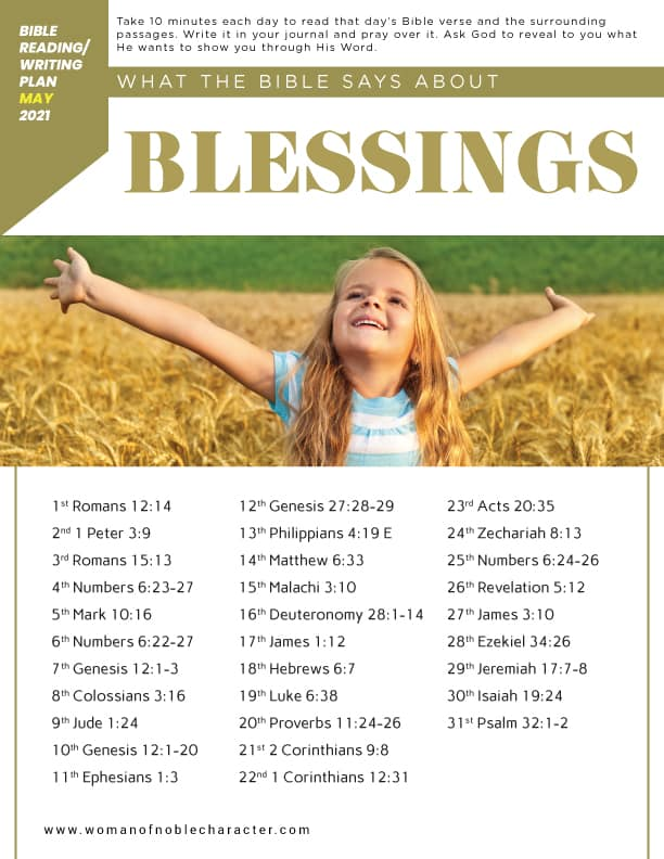 what the Bible says about blessings