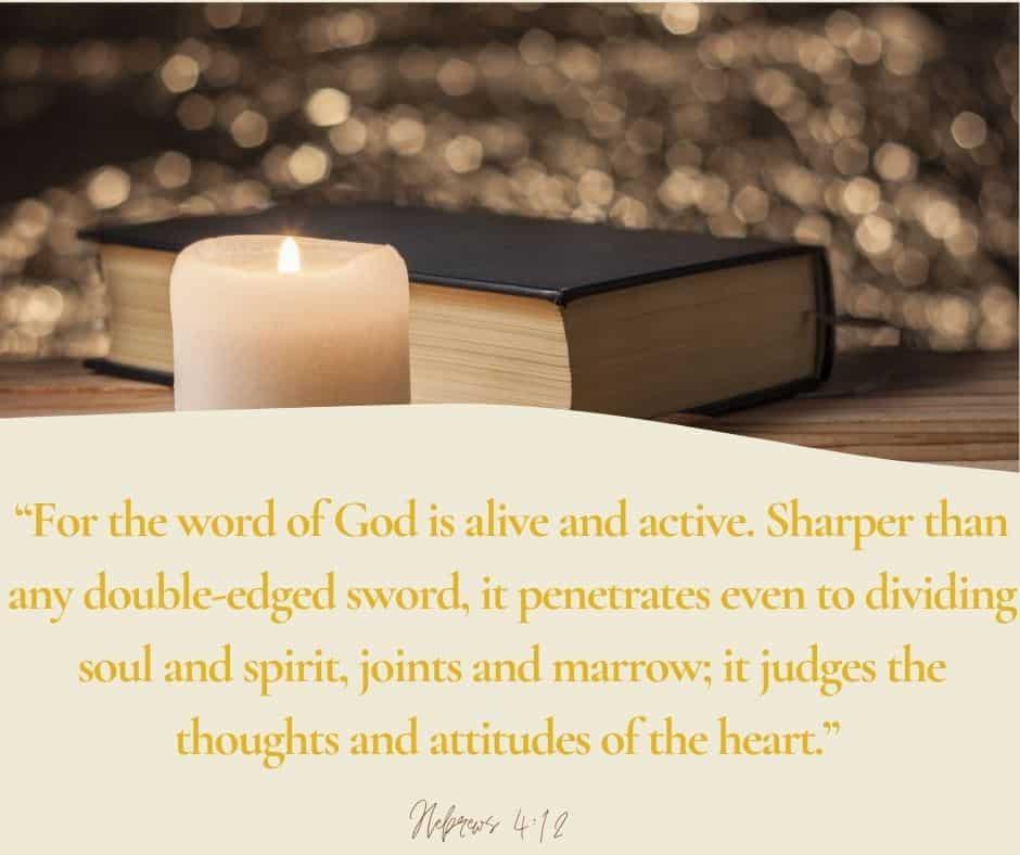 Bible next to lit candle; SOAP Bible study; Hebrews
