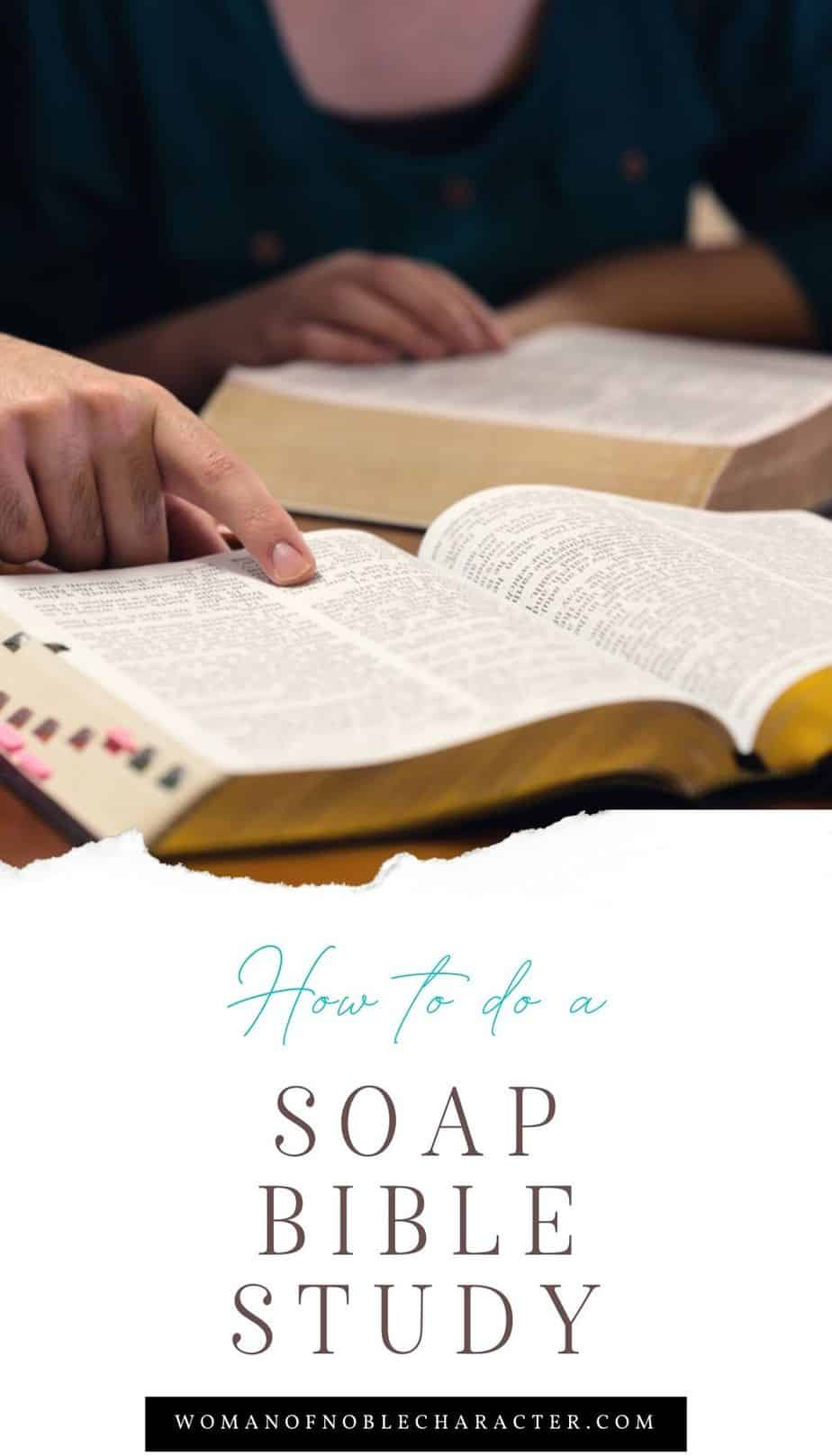 young couple studying their Bibles; SOAP Bible study method
