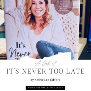 book cover of It's never too late