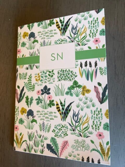 Paper Sunday, Christian planner, cover view, softcover, personalized with initials