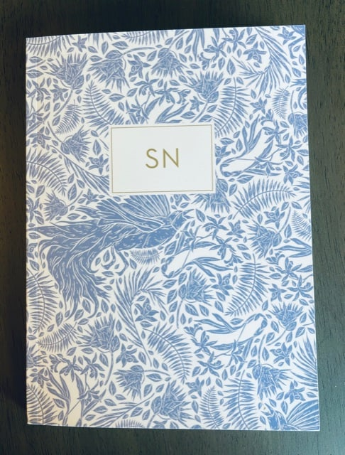 Paper Sunday, Christian journal, cover view, personalized journal with initials