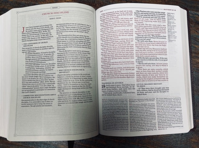 KJV Study Bible inside view