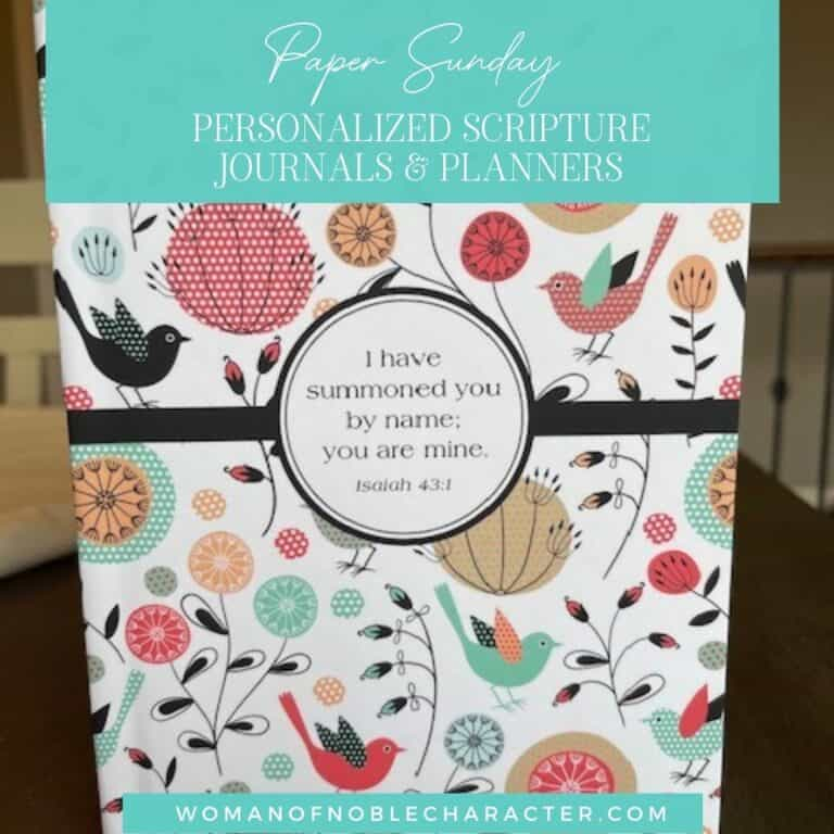 Paper Sunday: Gorgeous Personalized Christian Planners & Journals to Hear God Speak to You