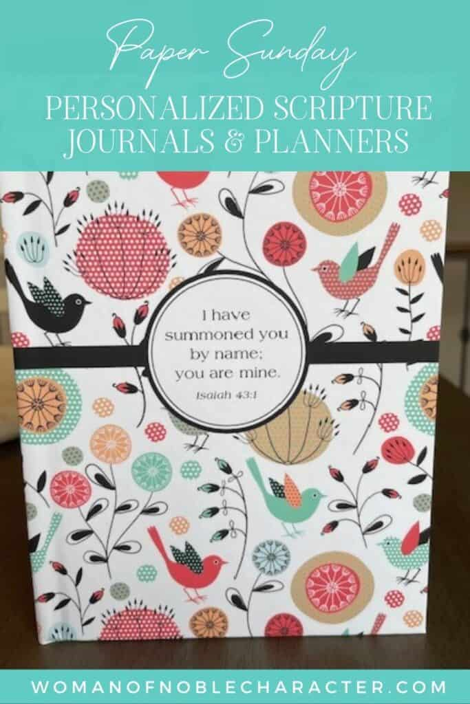 Paper Sunday personalized scripture journals and planners