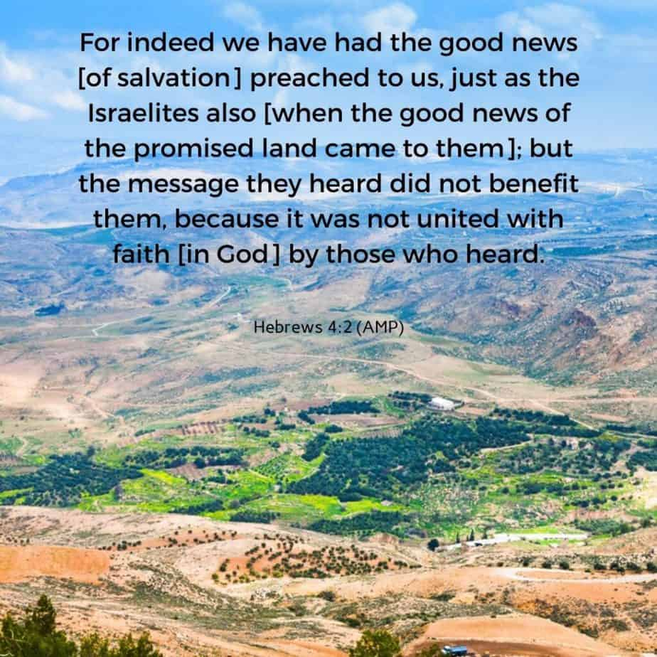 Mount Nebo; invite God into your personal finances; hebrews 4:2;