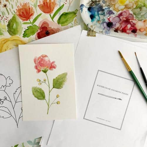 Emily Lex online watercolor class