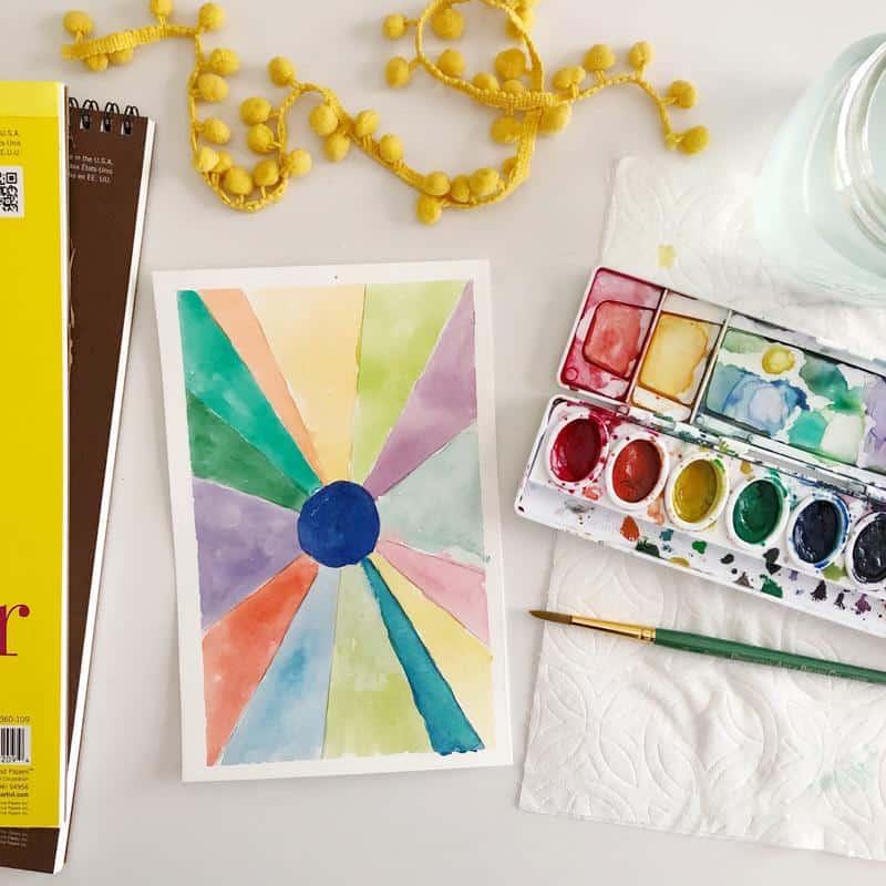 Emily Lex watercolor for kids online class