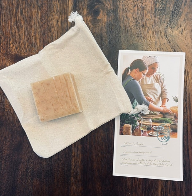 lemon lime all-natural soap; holy land gifts