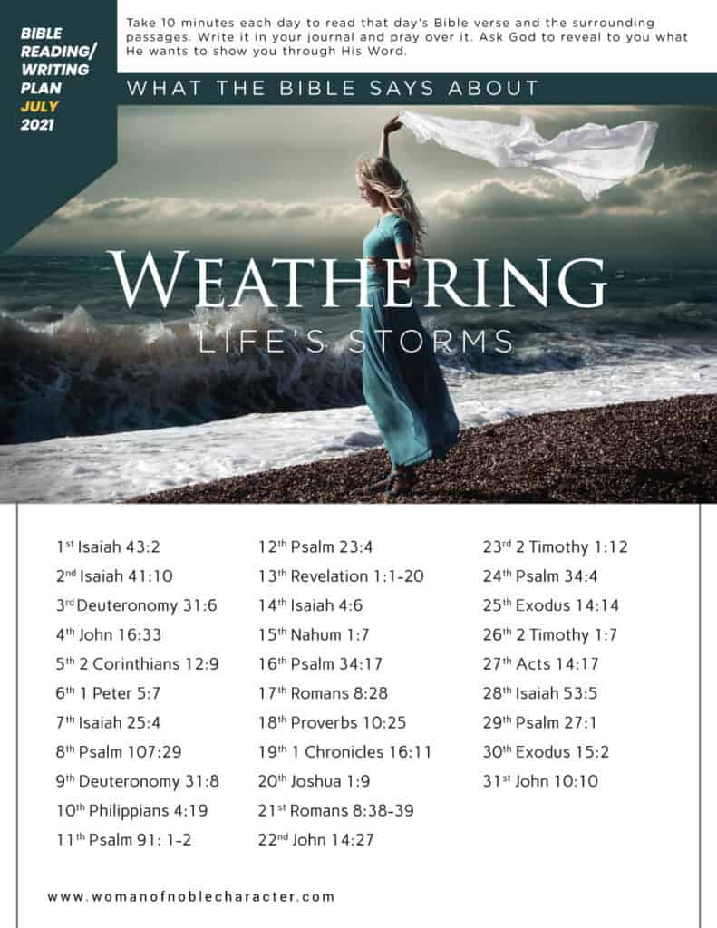 what the Bible says about weathering life's storms