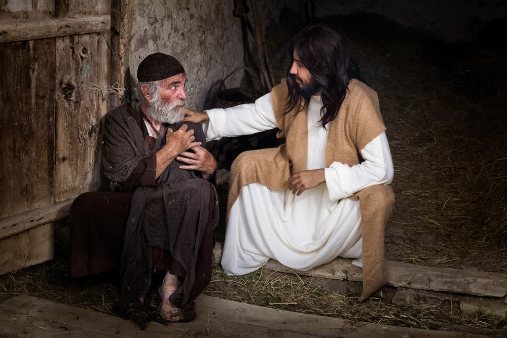 Jesus healing the lame or crippled man; meaning of 7 in the Bible
