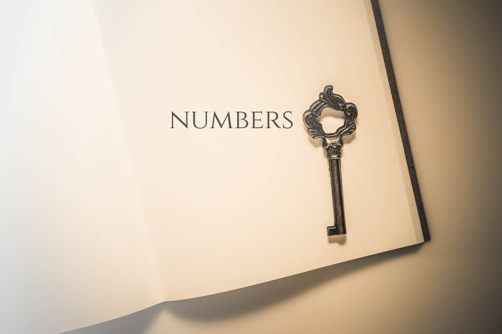 Vintage tone the bible book of Numbers; 7 in the Bible
