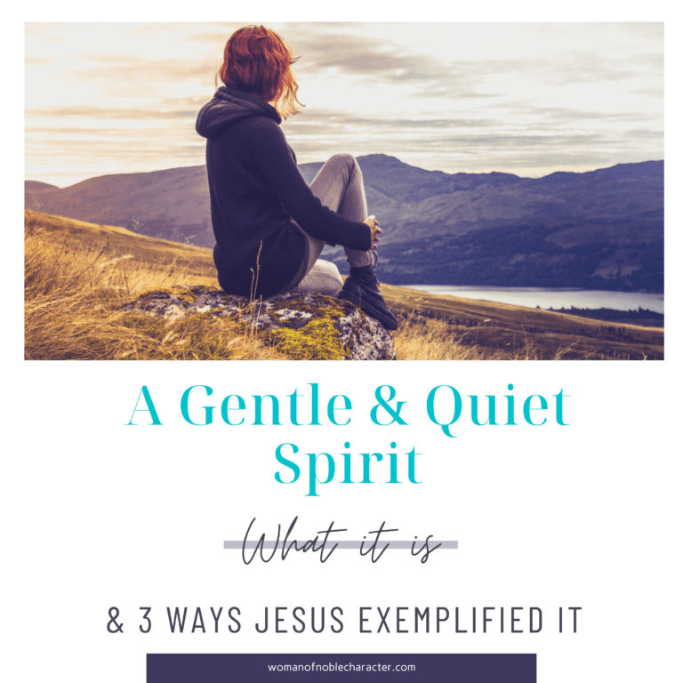 A Gentle and Quiet Spirit: What it is and 3 Ways Jesus Exemplified it