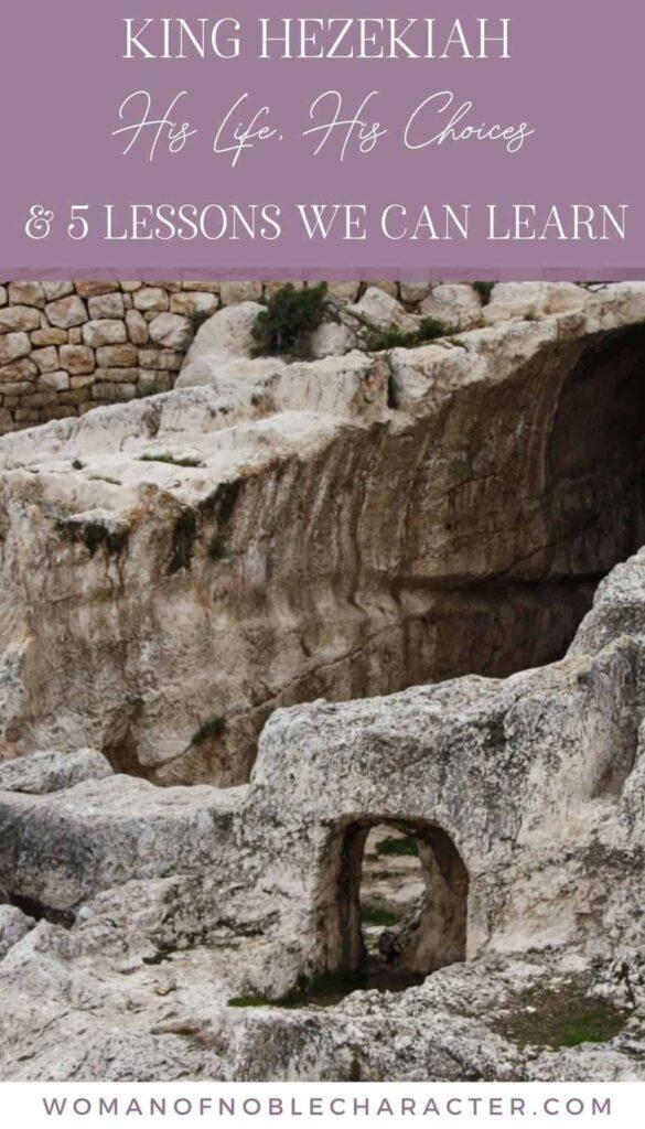 underground water tunnel built by King Hezekiah