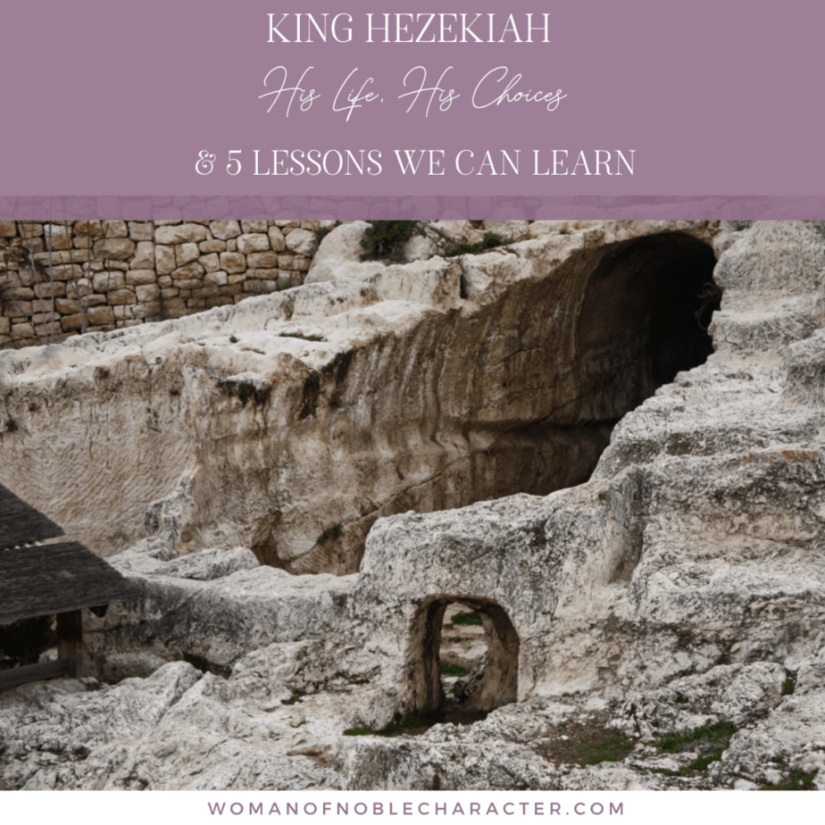 underground water tunnel built by King Hezekiah in the Bible