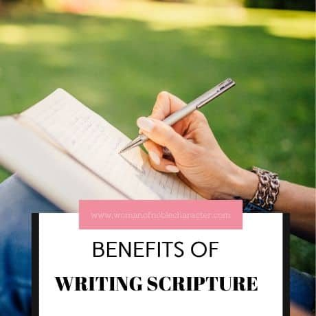 BENEFITS OF WRITING SCRIPTURE