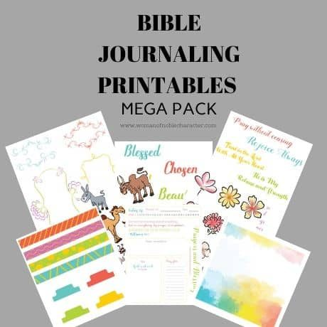 BIBLE JOURNALING PRINTABLES MEGA PACK