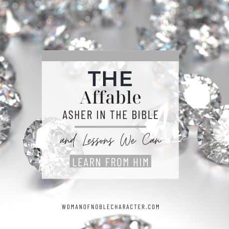 diamonds on table; tribe of Asher in the Bible