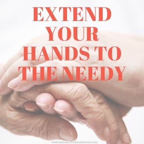 _Extend your hands to the needy