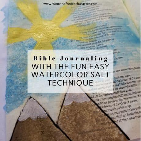 watercolor salt Bible journaling technique