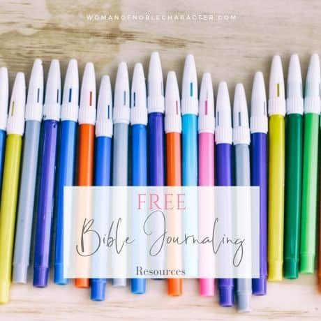 Free Bible journaling resources, courses, templates and printables