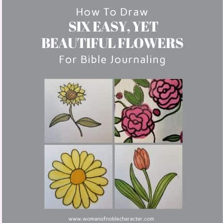 how to draw flowers for Bible Journaling