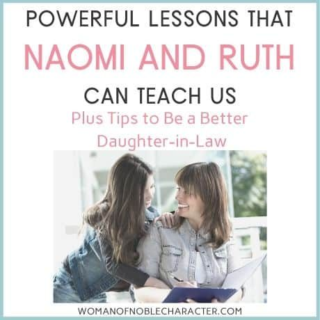 lessons from Ruth and Naomi