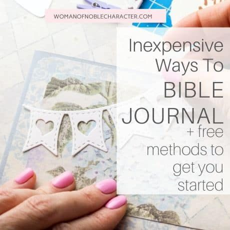 Bible journaling for free or cheap