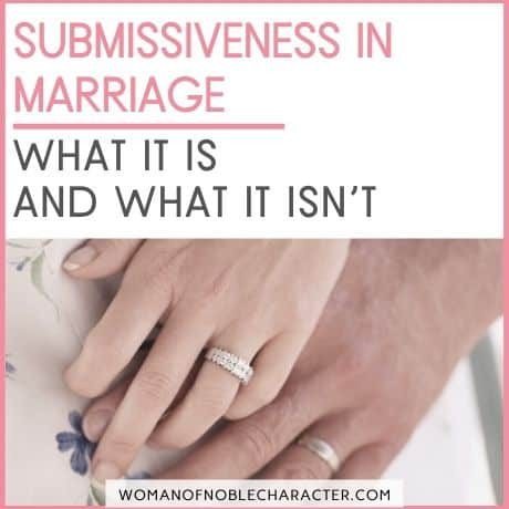 what is submissiveness in marriage