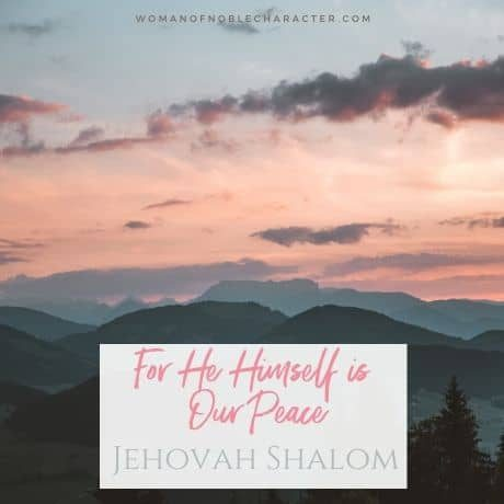 Jehovah Shalom Names of God