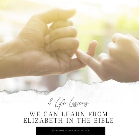 adult and child's hand: Elizabeth in the Bible