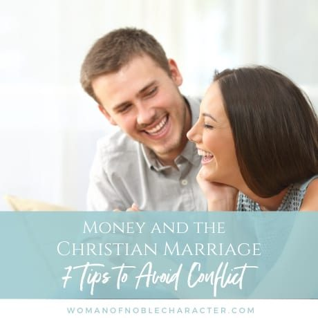 money and the Christian marriage - 7 steps to avoid conflict - man and woman discussing finances