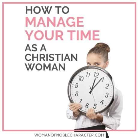 time management for Christian women