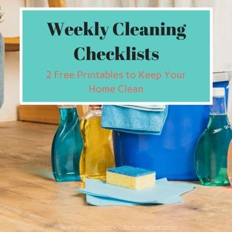 weekly cleaning checklists